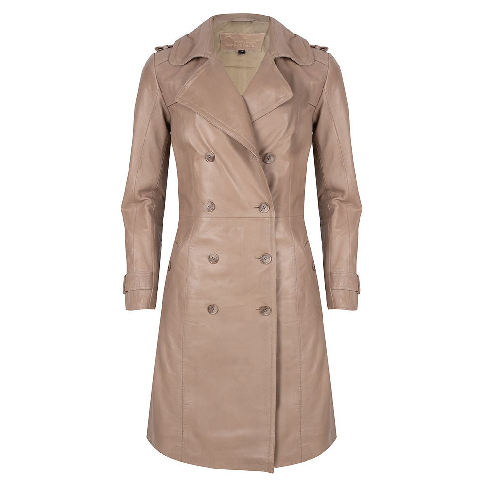 Chabo Bags - Leather Trenchcoat Fabiënne - Sand 40