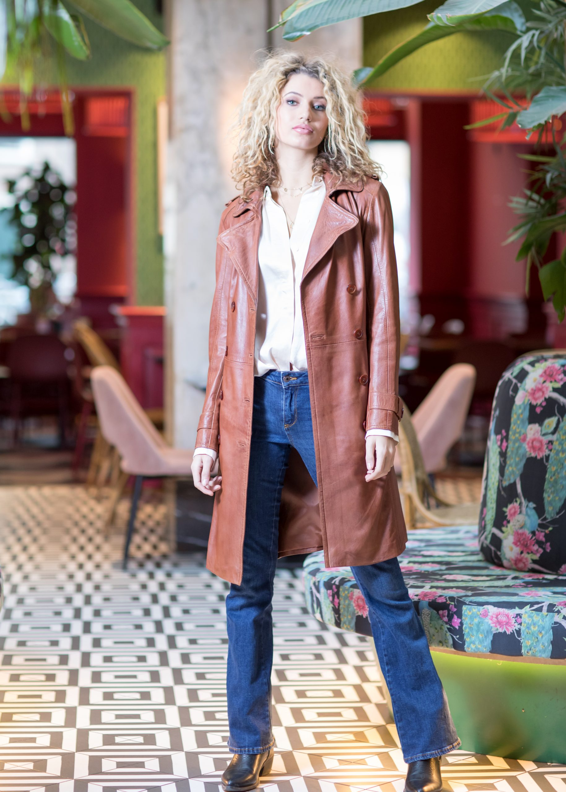 Chabo Bags - Leather Trenchcoat Fabiënne - Camel 40