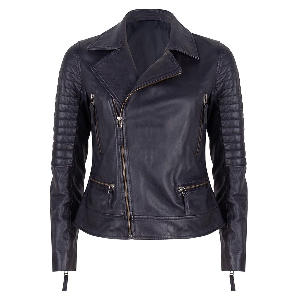 Chabo Bags -Leather Jacket Biker - Blue 36