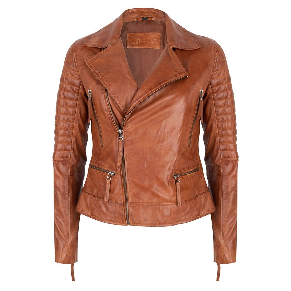 Chabo Bags - Leather Jacket Biker - Camel 36