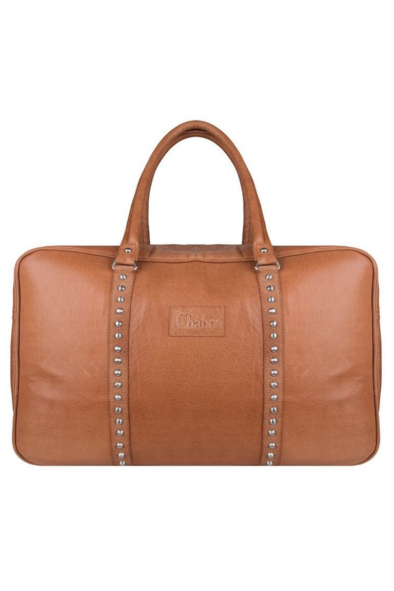 Chabo Bags - Weekender - Camel Studs