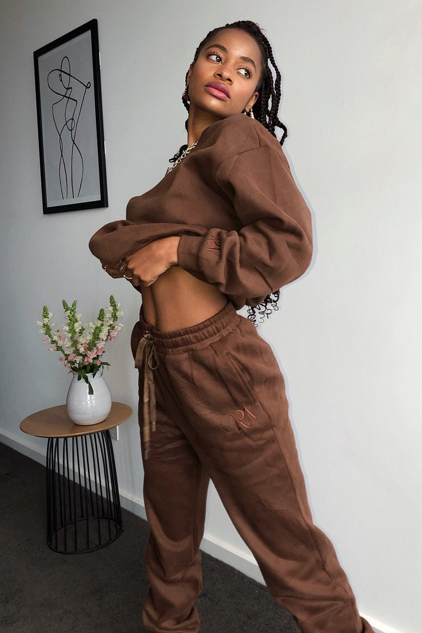 Runaway The Label - RW Track Pants Chocolate