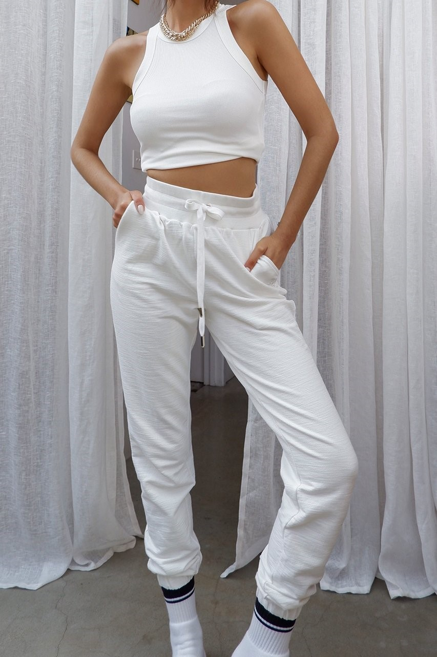 She.Is.Us. - Tenley Track Pants White