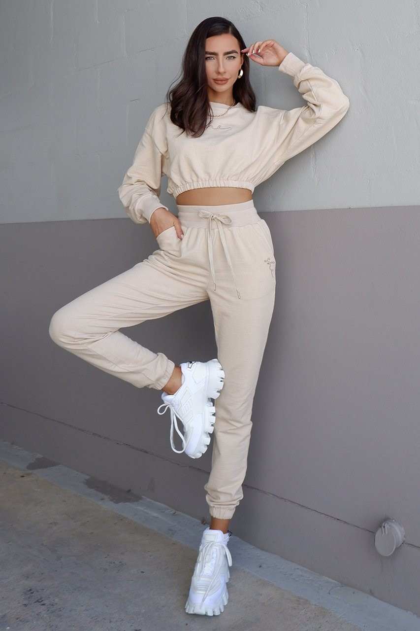 She.Is.Us. - Tenley Track Pants Sand