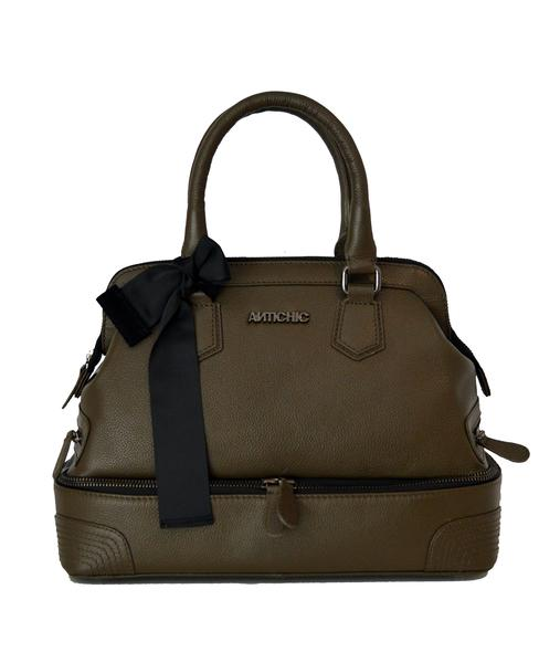 Antichic - Bag Vicky - Army Green leather